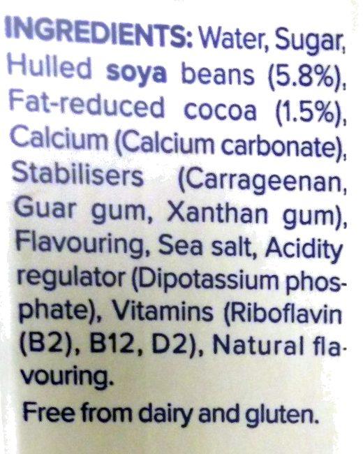 Chocolate Flavour Soya Milk - Ingredients - en