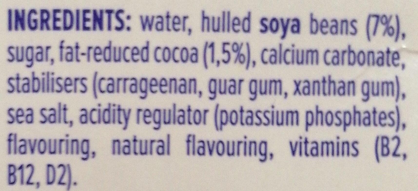 Appropriate Soya Chocolate - Ingredients - en