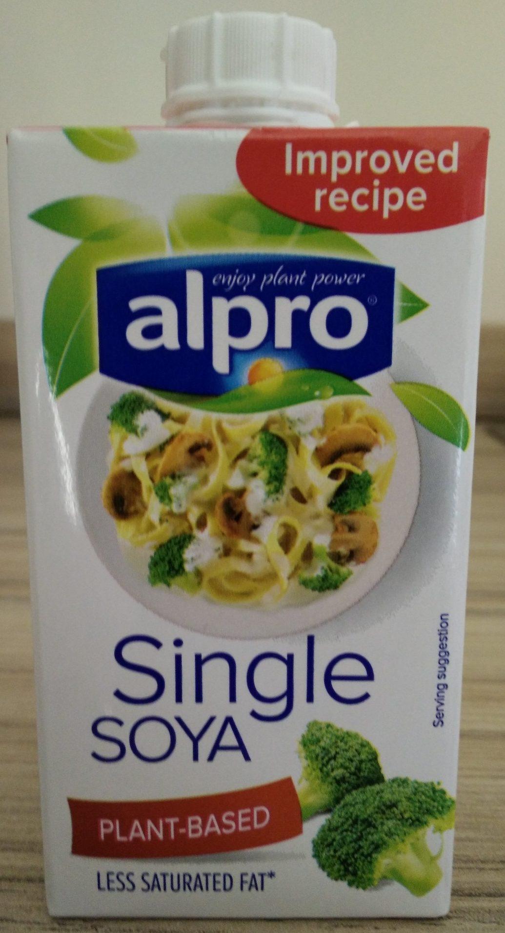 Single soya alpro 251g for Alpro soja cuisine