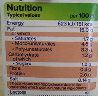 Single Soya - Nutrition facts