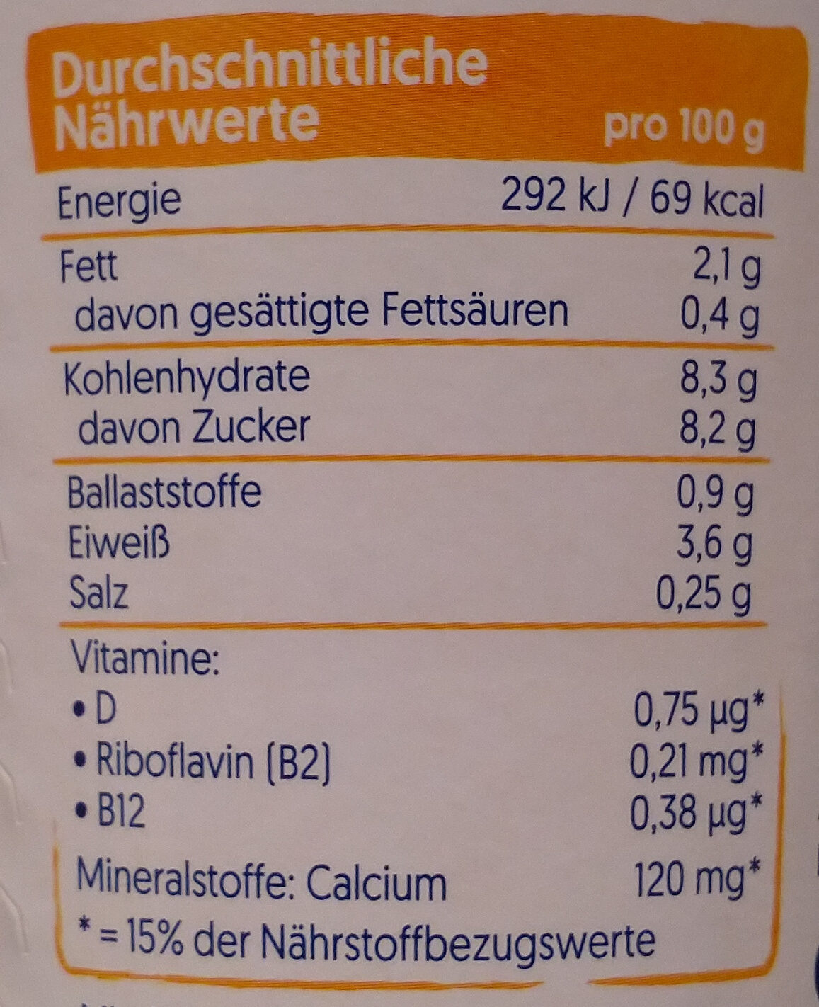 Alpro Pfirsich - Nutrition facts - de