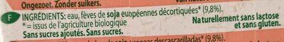 Soya Drink Nature - Ingredients