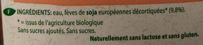 Soya natural - Ingredienti