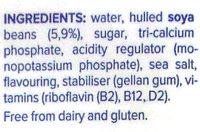 Soya Original - Ingredients