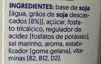 Soia - Ingrediënten - pt