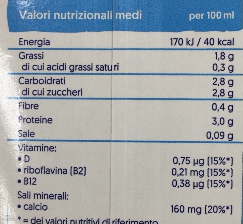 Soia - Nutrition facts - pt