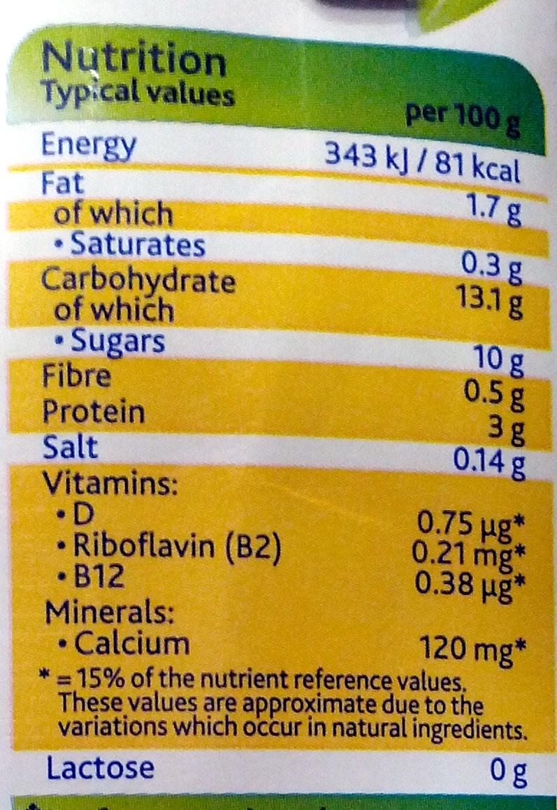 Deliciously Dairy Free Custard - Nutrition facts - en