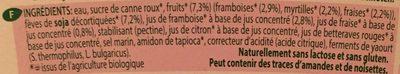 Soya Bio Yofu Fruit of the Forest 6 x - Ingredients - fr