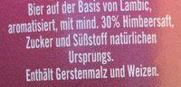 Framboise - Ingrediënten
