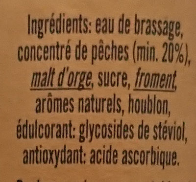 Pecheresse - Ingredients - fr