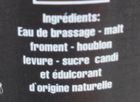 Faro Lambic - Ingredienti - fr