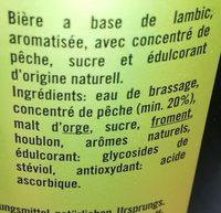 Pécheresse - Ingredients