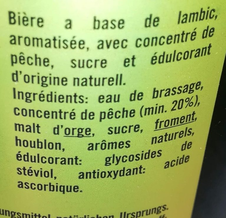 Pécheresse - Ingredients - fr