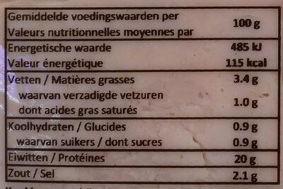 Filet de Poulet à la Broche - Nutrition facts - fr