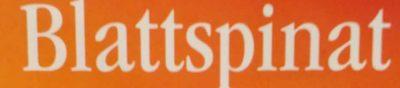 Blattspinat Portionen - Ingrédients - de