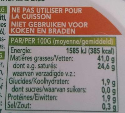 Butter, Halbfett - Nutrition facts - fr