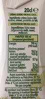 Crème légère - Nutrition facts - fr