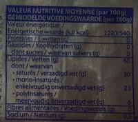 Margarine allégée 100% végétale - Voedingswaarden