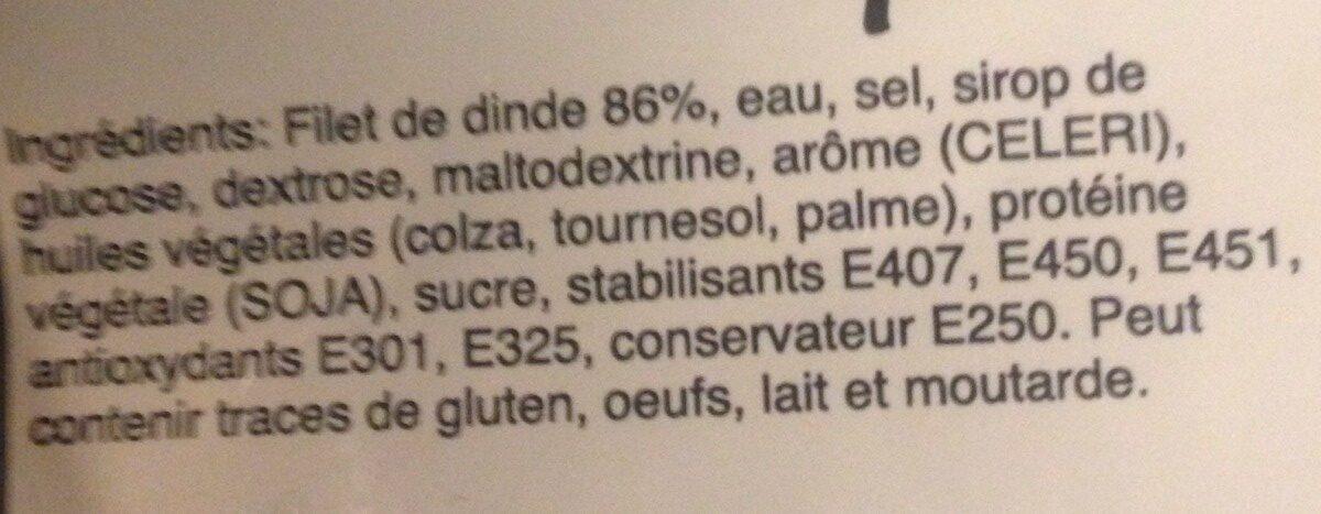 Filet de Dinde Rôtie - Ingredients