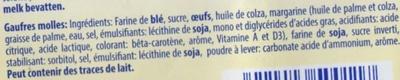 Gaufres molles - Ingrediënten - fr
