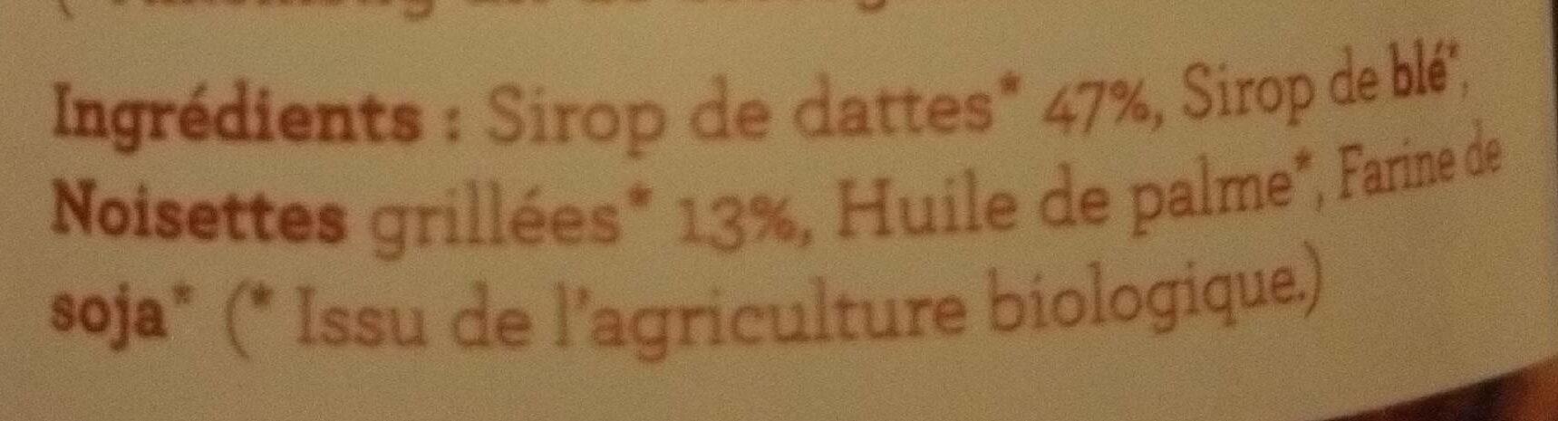 Pâte à targiner au sirop de dattes avec noisettes - Ingrediënten - fr