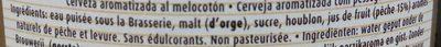 Pêche Mel' Bush - Ingrediënten - fr