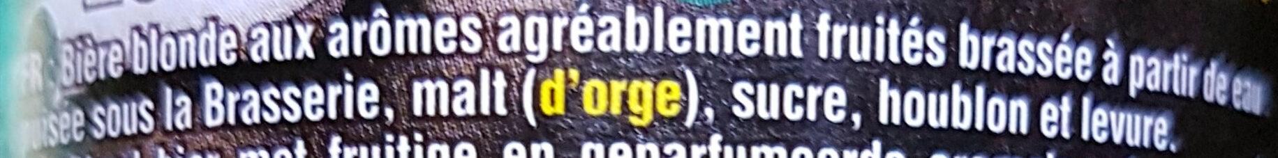 Cuvée des Trolls - Ingrediënten - fr