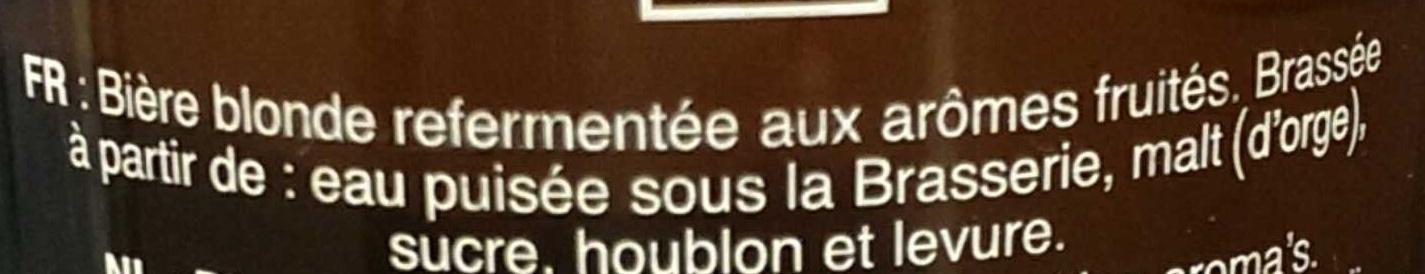 Cuvée des trolls - Ingrédients - fr