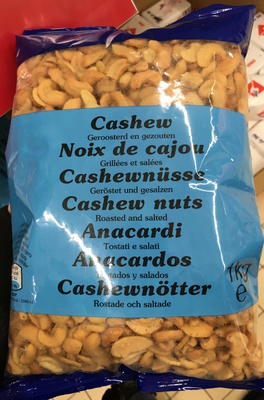 calorie Noix de Cajou grillées et salées