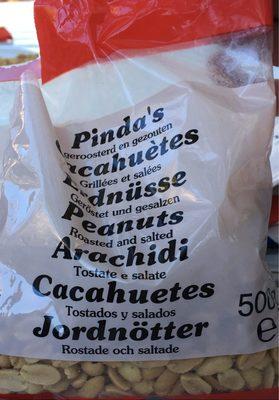 calorie Cacahuètes Grillées et Salées
