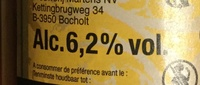 Bière Belge de tradition - Información nutricional