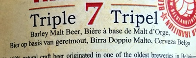 7 triple blond - Ingrediënten - fr
