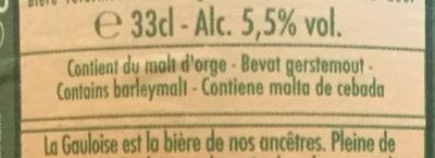 Gauloise ambrée - Ingrediënten
