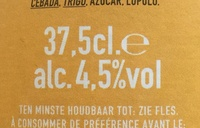 Gueuze Lambic - Nutrition facts - fr
