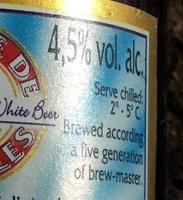 Bière blanche - Informazioni nutrizionali