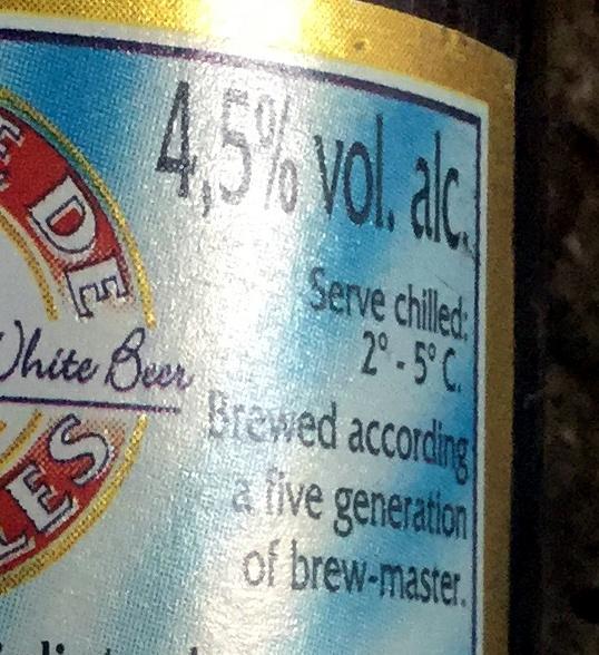 Bière blanche - Nutrition facts - fr