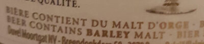 Duvel - Ingredients - fr