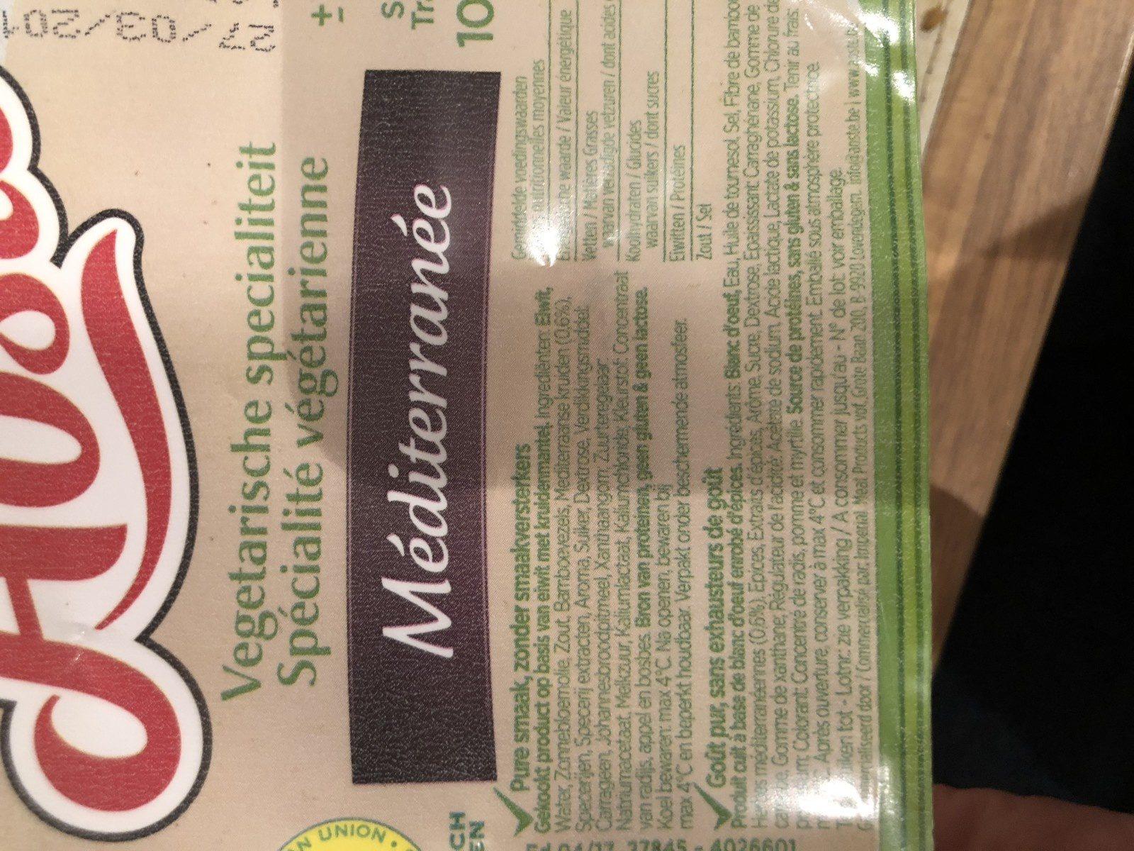 Aoste Le Vegetarien Medit. 100g - Ingrédients - fr