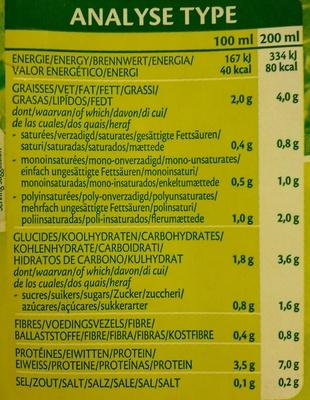 Boisson biologique à base de fèves de soja - Nutrition facts