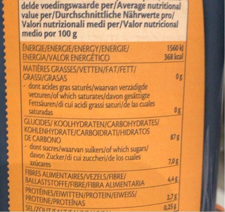 Yannoh instant original - Voedingswaarden - fr
