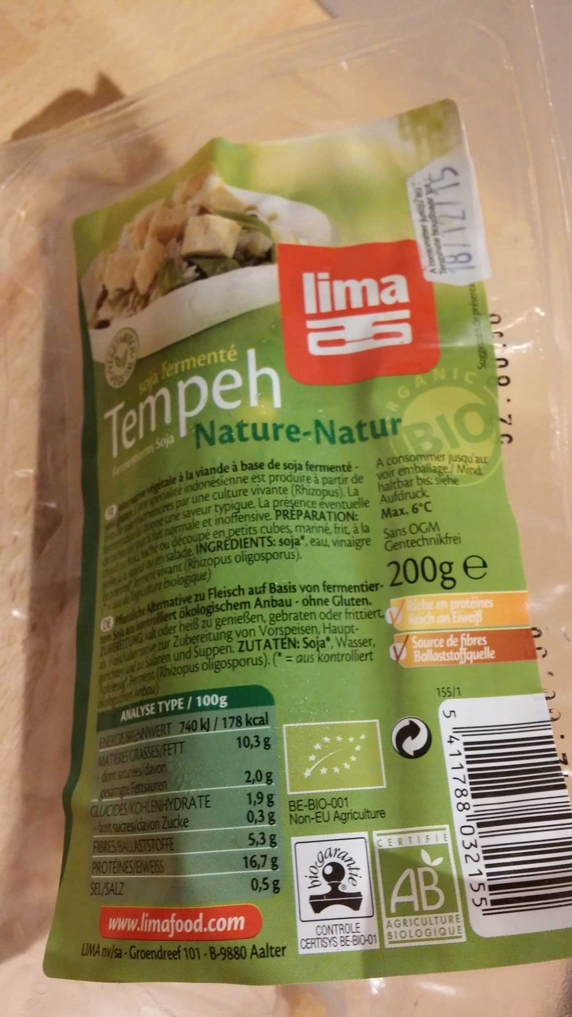 Tempeh nature - Product