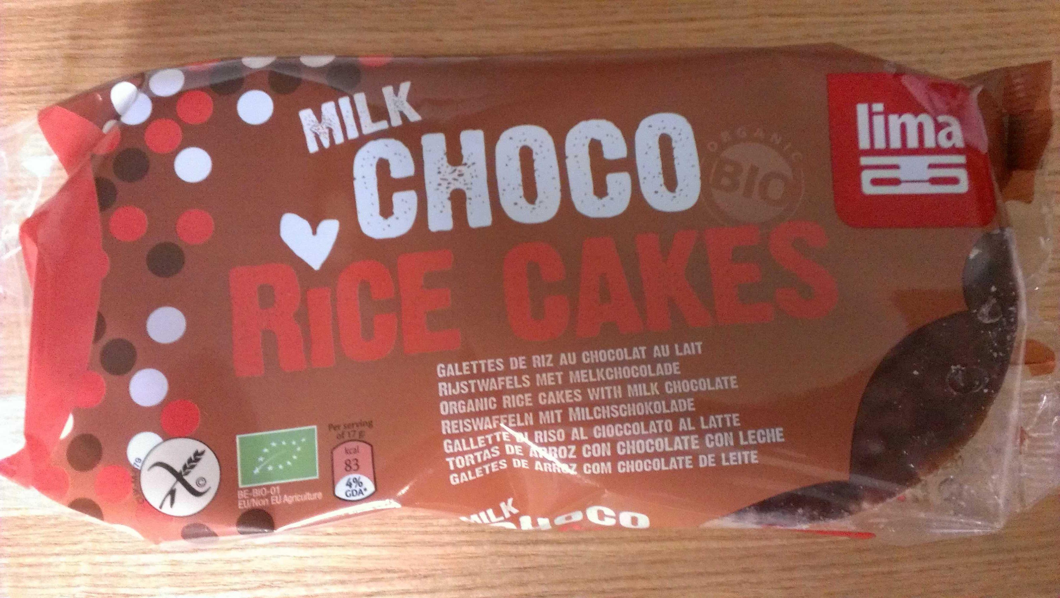 MILK CHOCO RICE CAKES - Product - fr