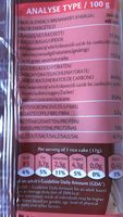 MILK CHOCO RICE CAKES - Nutrition facts - fr