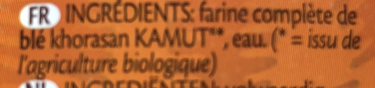 Kamut-tagliatelle - Ingrédients - fr