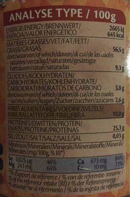 Tahin Nature Crème de sésame - Informations nutritionnelles - fr