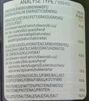 Sauce de soja - Informations nutritionnelles