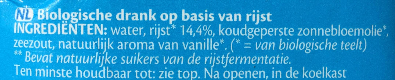 Rice drink the original - Ingrediënten - nl