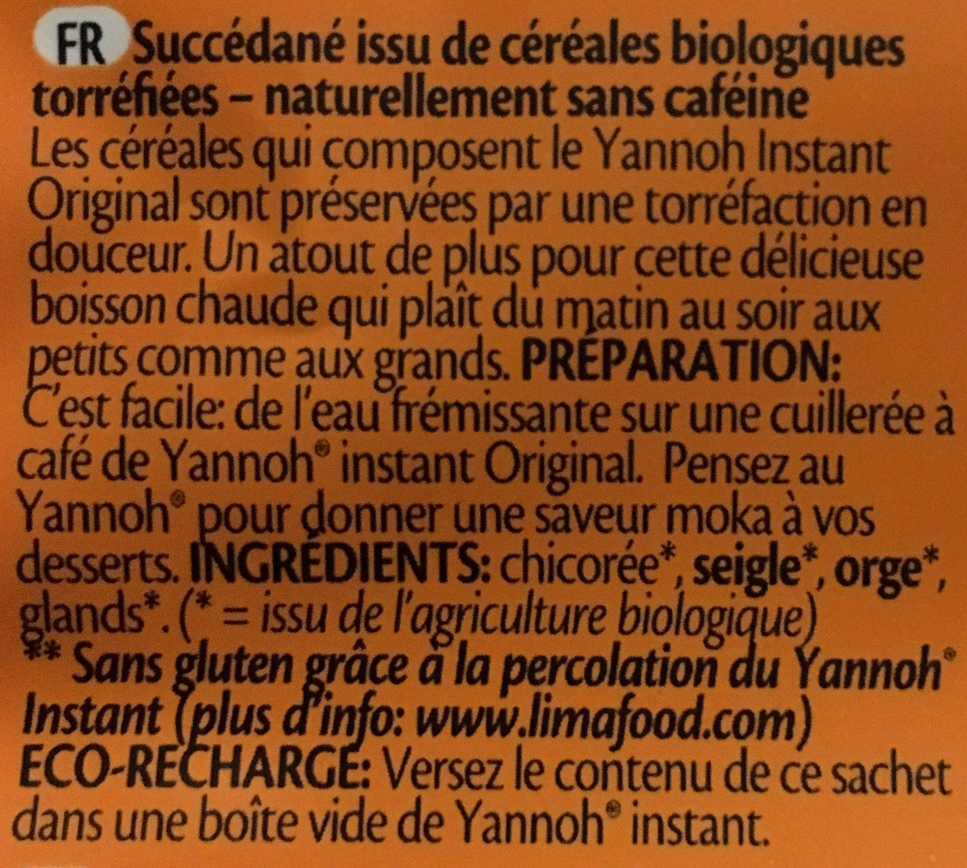 Yannoh instant original - Ingrédients - fr
