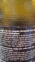 Vinaigre de riz complet biologique fermenté - Produit