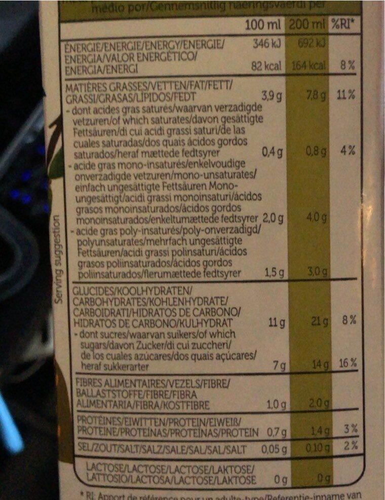 Lait de riz noisettes et amandes - Voedingswaarden - fr